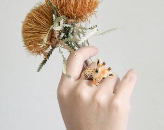 Gina, Giraffe Ring. Safarica Collection.