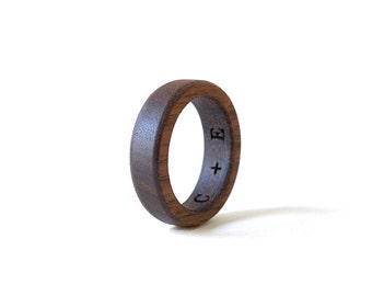 Walnut Wood Ring, Wood Ring, Women Wedding Band, Wedding Ring, Walnut Ring, Wood Wedding Jewelry, Walnut Jewelry, Wooden Men Ring