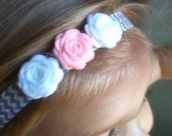 Newborn Headband - Baby Headband, Toddler Headband, Chevron Headbands, Girls Headband, Hair Accessories, Baby Hair Bows, Baby Shower Gifts