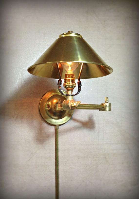 Wall Mount Articulating Lamp : Adjustable Articulating Wall Mount Light Plug-In Metal
