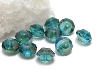 Aqua AB Rivoli Crystals 10x14mm 2pcs