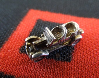 Opening Sterling Car Charm Vintage 1920's Touring Motor Car Charm Sterling Silver Charm for Bracelet from Charmhuntress 03089