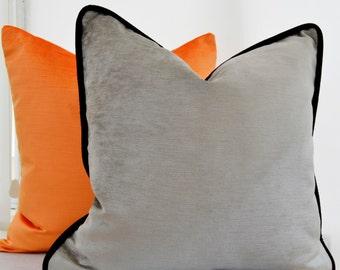 Taupe Velvet Pillow Cover,Taupe Gray Velvet Pillow Cover,Mink Velvet Pillow Cover