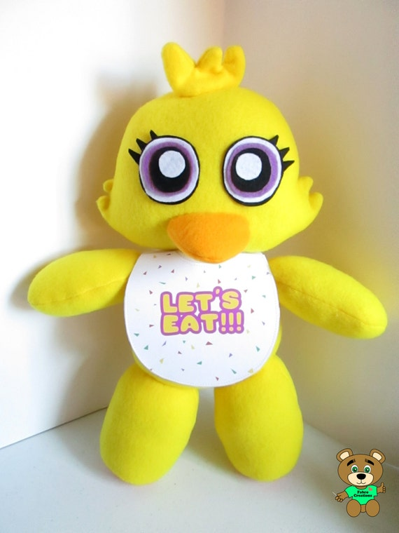 Chica plush inspired by fnaf five nights at freddy s unofficial