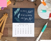 50% OFF! Printable 2016 Desk Calendar - Inspirational and Motivational Quote Designs - Instant Download