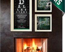 Dallas Stars Hockey - 3-pc. Hat Trick Special - Perfect Christmas, Anniversary or Birthday Present for Your Stars Fan - Unframed Prints