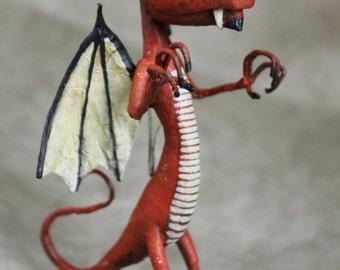 RAGNAR red dragon OOAK DOLL KriSoft