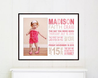 Adoption gift for girls, Unique adoption gift, Adoption Gifts, Adoption Dates, Adoption Art, gift for an adopted child, Adoption day gift