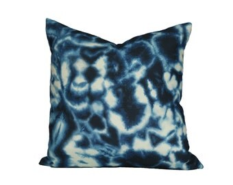 Indigo Puddle designer pillow cover - Made to Order - Choose Your Size