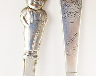 Campbell's Soup Collectibles - Two Soup Spoons - Two Different Styles - Girl and Boy From Campbell's - Silverplate  - Campbell's Kids