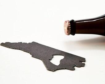 July 4th  North Carolina Steel Bottle Opener - Travel Souvenir, Groomsmen Gift, Wedding Favor, Christmas Gift