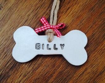 Personalised Dog Bone Christmas Decoration