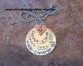 Personalized Mother/Grandmother Necklace, Child Name Necklace, Mom Jewelry, Grandma Jewelry