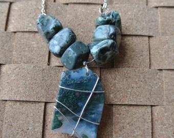 Algae Stone Necklace