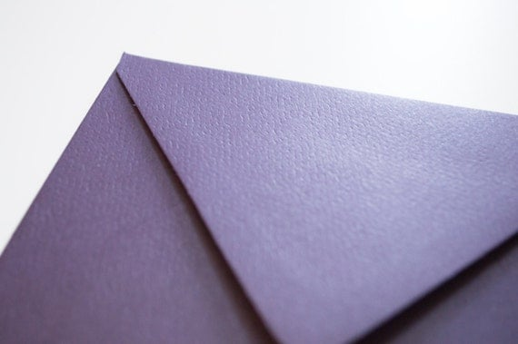 "25 ""aubergine"" purple 4 bar envelopes - high quality (Wholesale Pricing)"