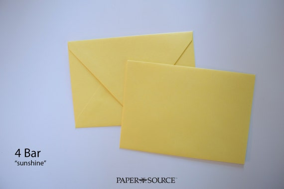"25 ""sunshine"" yellow 4 bar envelopes - high quality (Wholesale Pricing)"