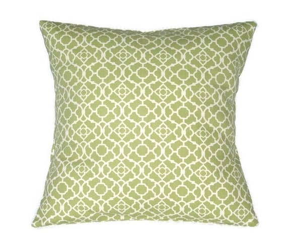 Free shipping soft green and white decorative pillow cover for Green and white throw pillows