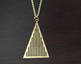triangle necklace, gold triangle necklace, geometric necklace, triangle pendant, geometric pendant, gold geometric necklace, jewellery