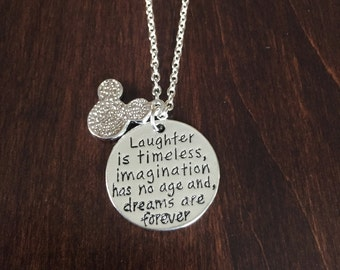 Mickey necklace, Minnie Necklace, Disney necklace, Disney jewelry, Mickey Mouse, Minnie Mouse, silver necklace, necklace