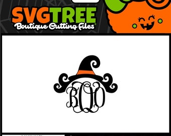 Witch SVG Witch Hat Halloween Monogram Halloween SVG Commercial Free Cricut Files Silhouette Files Digital Cut Files svg cuts