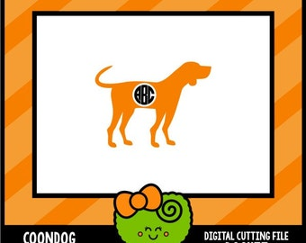 Coonhound silhouette   Etsy