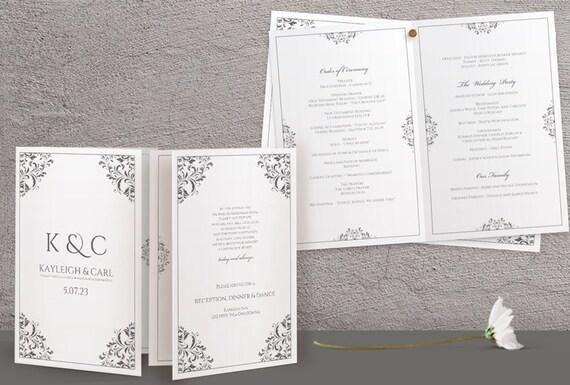 wedding program booklet template download by karmakweddings. Black Bedroom Furniture Sets. Home Design Ideas