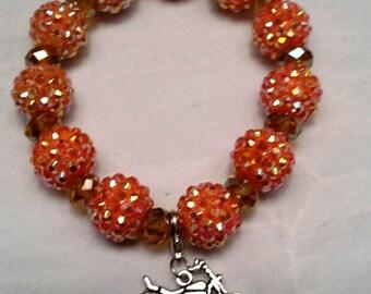 Orange Biker Chick Bracelet