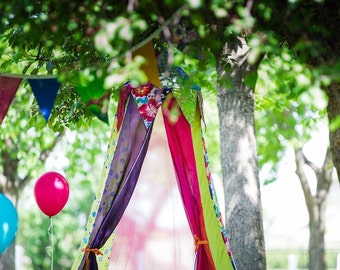 Play Tent, Circus tent, Birthday decor tent, bed canopy, girls room decor