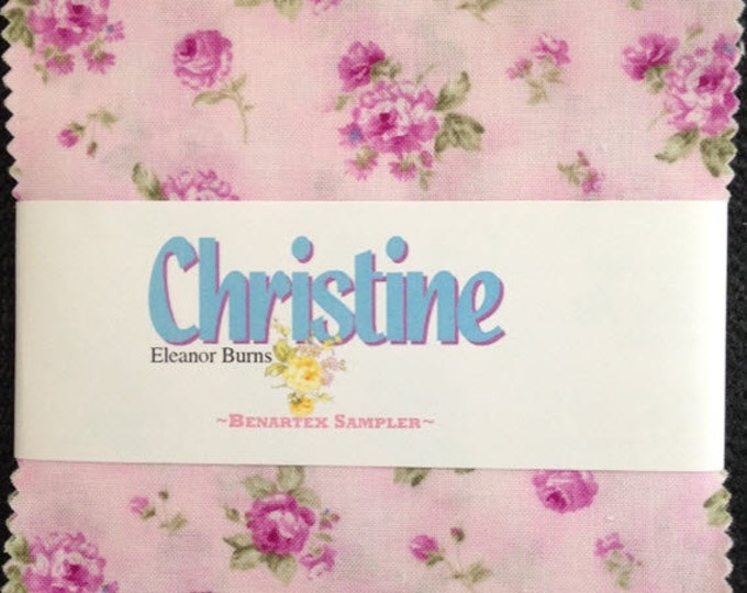 "Christine Charm Pack - (42) 5"" X 5"" Squares - Romantic Floral Cotton Quilt Fabric - Eleanor Burns for Benartex - (W2952)"