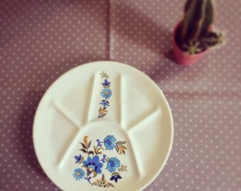 French Fondue Plate vintage 70s