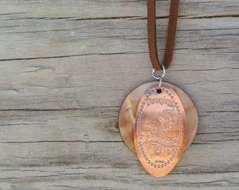 Frontierland Pressed Penny Chord Necklace- Disneyland