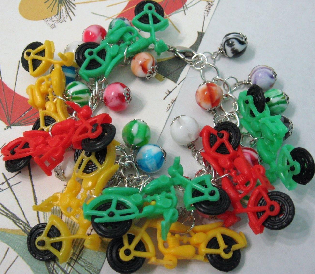 motorcycle charm bracelet vintage plastic gumball charms. Black Bedroom Furniture Sets. Home Design Ideas