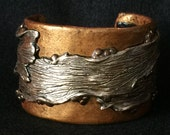 Cuff Bracelet Bangle Boho Polymer Clay Mid Century Modern Jewelry DRIFT by Donna Pellegata ArtCirque