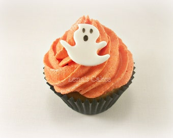 halloween cupcake topper ghost fondant edible cake topper party decor spooky scary monster