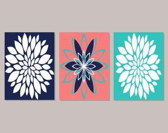 Teal And Brown Wall Decor bedroom wall art prints or canvas teal brown dahlia flower