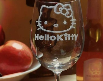 Kitty Wine Glass