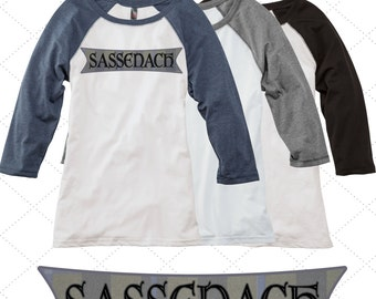 Sassenach Raglan Shirt -OR- Dinna Fash Raglan Shirt \\ Outlander Clothing \\ Outlander Top \\ Outlander Fan