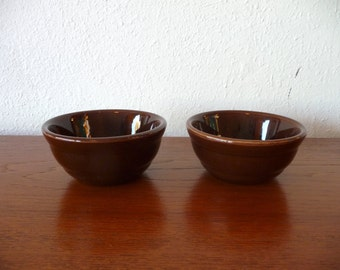 Bauer Pottery Brown Custard Cups Mid Century Modern Pottery California Pottery Vintage Ramekin