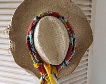 Woven hat - beach wear - boho hat - sun hat - summer hat - straw hat - vintage hat - rustic hat - gardening hat - woven hat