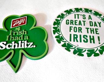 Vintage Irish Buttons - Schlitz Irish I had a Schlitz Advertising Memorabilia Button - Irish Pinback Button Schlitz Collectible