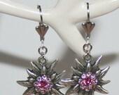 Brisur earrings with Edelweiss pink