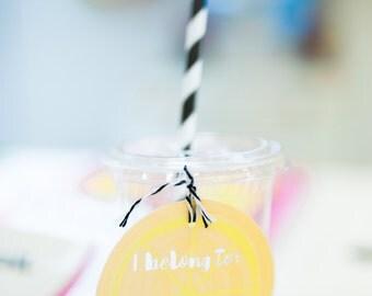 Printable Drink Tags - Tutti Frutti Birthday