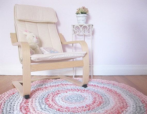 kids room decor shabby chic rag rug girls rug girl nursery. Black Bedroom Furniture Sets. Home Design Ideas