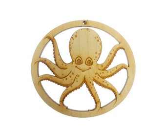 Octopus Ornament  - Octopus Gift - Octopus Ornaments - Octopus Decor - Octopus Art - Personalized Free