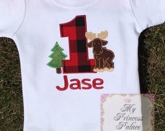 Personalized Lumber Jack Birthday Shirt