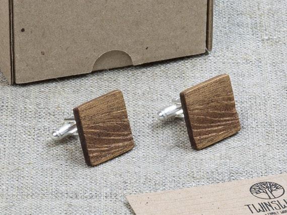 Bibolo Wood Cufflinks. Personalized Cuff Links. Engraved Monogrammed Initial Wooden Cufflinks. Сustom cufflinks. Groomsmen Gift. Xmas gift.