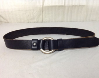 Free Ship, Lucky Brand,leather belt, Black, Leather, Boho Belt, adjustable