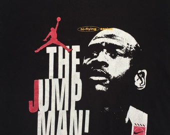 Vintage Nike Michael Jordan Shirt The Jump Man RARE
