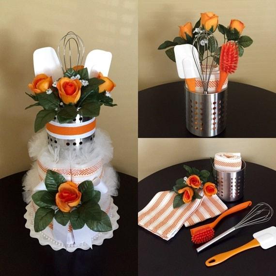 Bridal Gift From Mother: Items Similar To Kitchen Cake -Orange Rose, Bridal Shower
