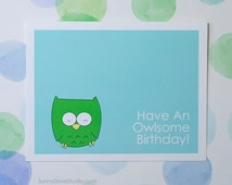 Cute Owl Pun Birthday Card For Friend Her Him Fun Funny Happy Handmade Greeting Blank Cards Gifts Gift Ideas Sister Brother Niece Nephew